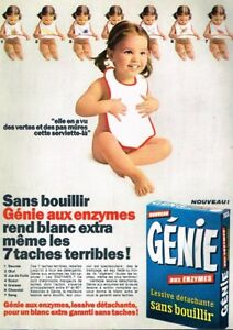 Collectibles Publicité Advertising 1969 La Lessive Genie Q