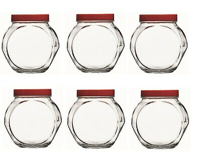 4pc 200ml Small Glass Jars Screw Lid Herbs Spices Condiments Sweets Food Storage