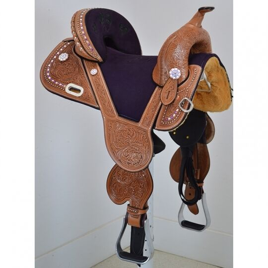New 14.5  Tammy Fischer Treeless Barrel Saddle  Circle Y Saddlery 1311-V454-05  online shopping