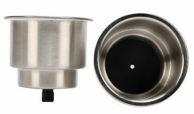 PAIR!!! Stainless Cup Drink Holder Marine Boat RV Camper-AM