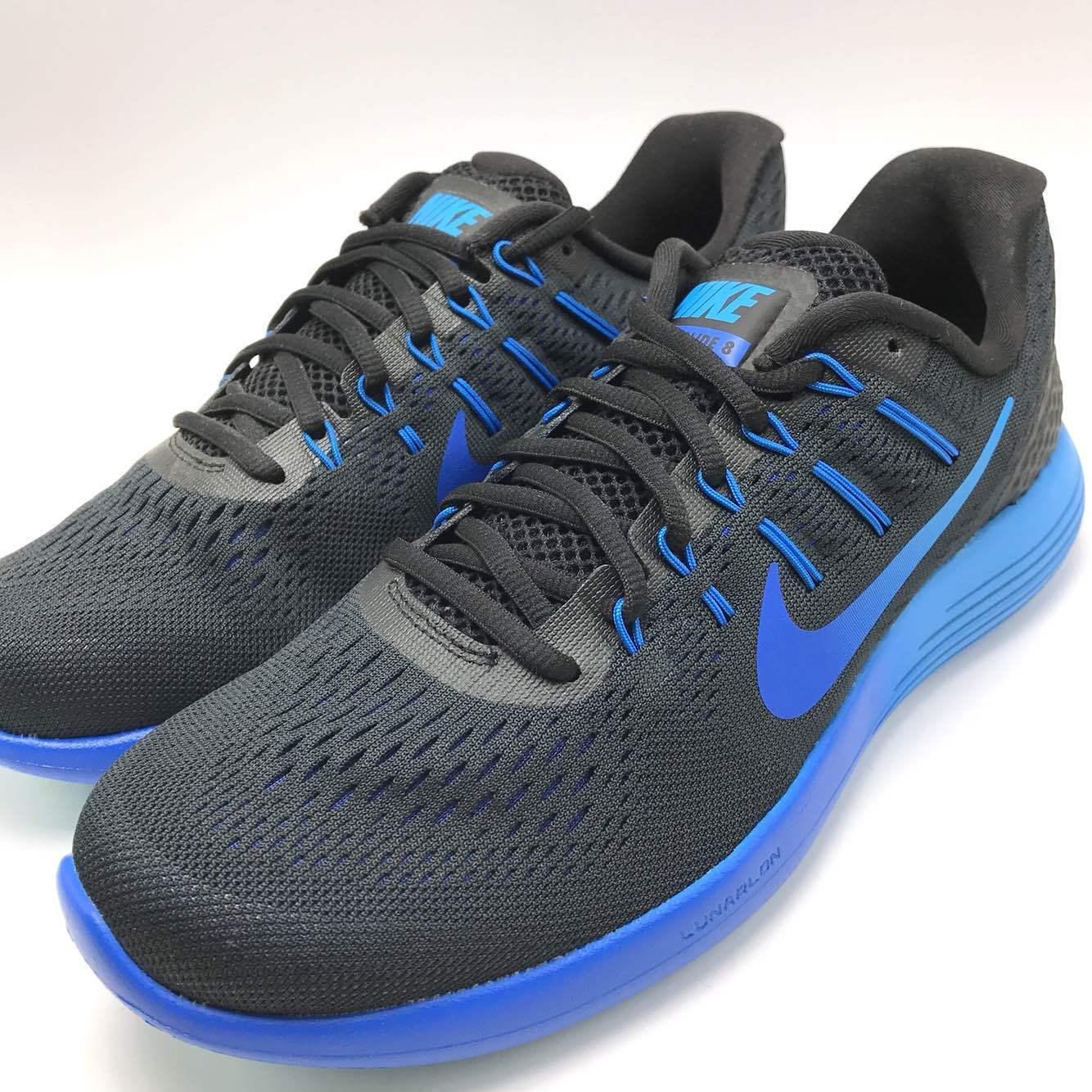 Nike Men's Lunarglide 8 Black/Deep Royal Hypr CBL Running Shoes 843725-004
