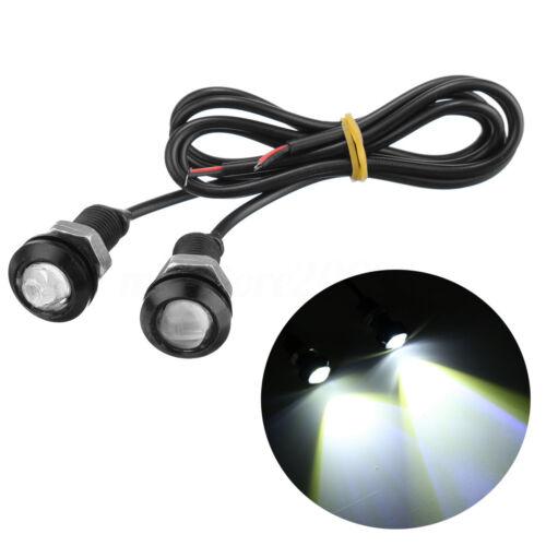 2//4//10pcs Car LED Eagle Eye 18mm Fog Daytime Running DRL Tail Light Backup Lamp