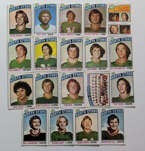 1976-77-O-Pee-Chee-Lot-of-19-MINNESOTA-NORTH-STARS-NANNE-GOLDSWORTHY-YOUNG