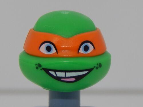 Lego Minifigure Head Teenage Mutant Ninja Turtles Michelangelo H91