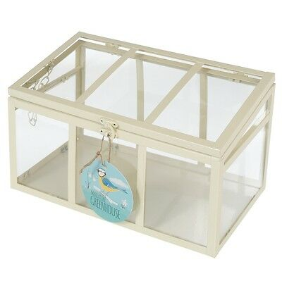 dotcomgiftshop  IVORY MINI GREENHOUSE WITH 3 PANELS
