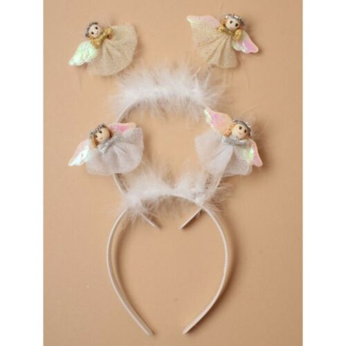 Angel head boppers christmas party headband silver or gold