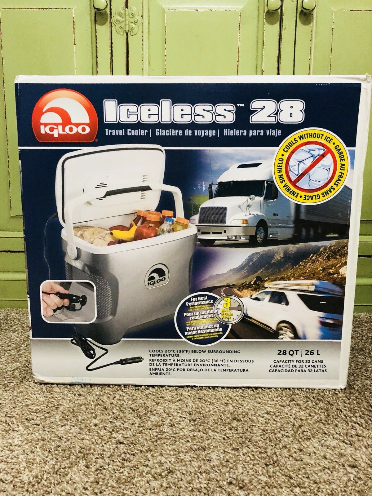 Igloo Iceless 28 Travel Cooler 12V Electric Thermoelectric - Brand Brand - New f89ed7