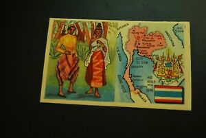 Vintage-Cigarettes-Card-SIAM-Thailand-REGIONS-OF-THE-WORLD-COLLECTION