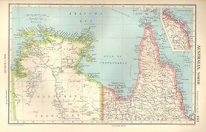 Map Of Australia Cape York Peninsula.Details About 1952 Map Australia North North Queensland Cape York Peninsula Arnhem Land