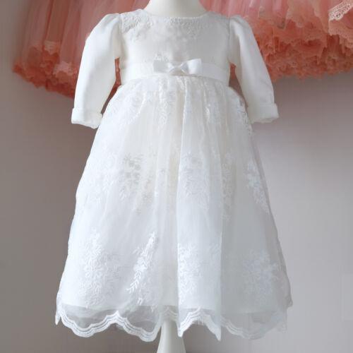 BM22-LA 2tlg.Taufkleid+Mütze Klassisches Taufkleid Mädchenkleider