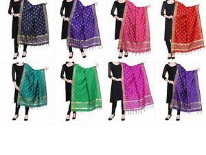 Women-039-s-Silk-Banarasi-Dupatta-Ethnic-Dupatta-2-25-meter-Free-Shipping