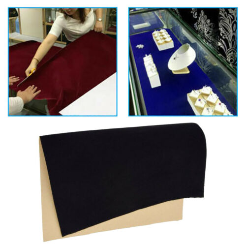 Tissu de velours auto-adhésif bricolage Liner papier arcs bijoux tiroir Liners