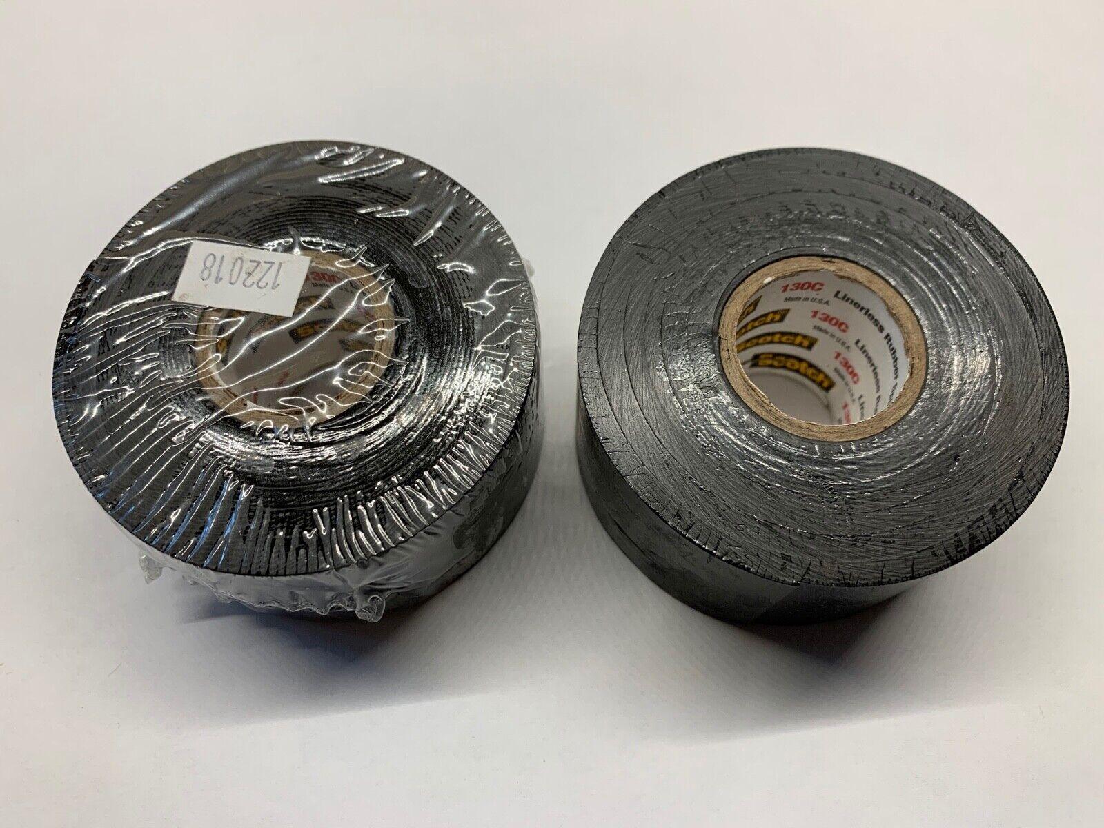 30/' L x 3//4 W Blk 3M Scotch 130C Rubber Resin Linerless Splicing Tape