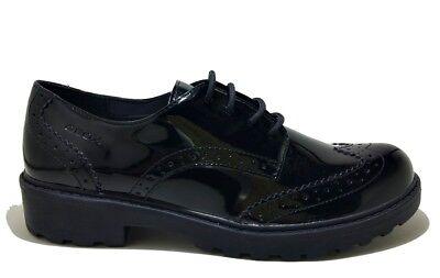 GEOX CASEY J6420N BLACK scarpe bambina ragazza francesine inglesine pelle casual   eBay
