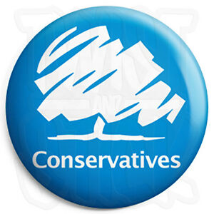 Conservative Logo - 25mm Button Badge - General Election Political ...