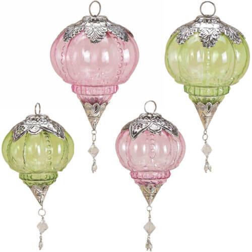 Dekohänger verre glashänger Orient Balle environ rose /& vert par 2er Set 2 Tailles