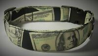 Wet Nose Designs Cha Ching Cash Money Dog Collar Big Bucks