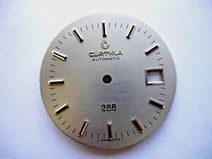 Ancien-cadran-montre-Certina-Automatic-288-date-dial-watch-Zifferblatt-swiss