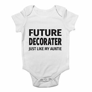 Future-Decorator-Just-Like-My-Auntie-Cute-Boys-and-Girls-Baby-Vest-Bodysuit