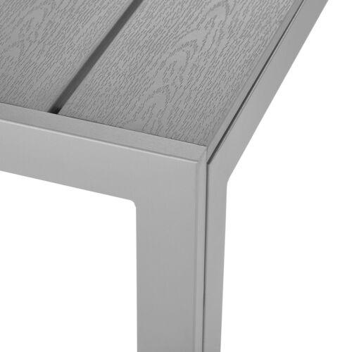 Mesa de jardín mesa de balcón mesa de patio de comedor muebles de jardín aluminio mesa