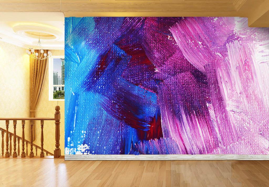3D Blau Pigment 783 Wallpaper Mural Paper Wall Print Wallpaper Murals UK Lemon