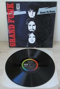 LP-GRAND-FUNK-RAILROAD-Closer-to-home-Capitol-70-ITALY-1st-ps-hard-blues-VG