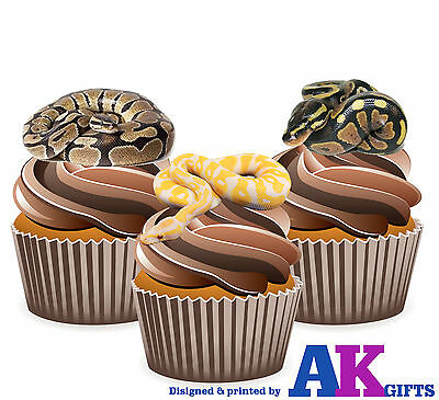 Novelty Snakes Mix Edible Premium Stand Up Cake Toppers VANILLA Reptiles Snake