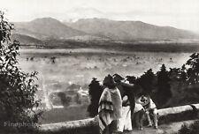 1934 Vintage 11x14 MEXICO Amecameca Popocatepetl Mountain Landscape HUGO BREHME