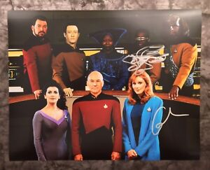 GFA-Star-Trek-GATES-McFADDEN-amp-LeVAR-BURTON-Signed-11x14-Photo-AD3-COA
