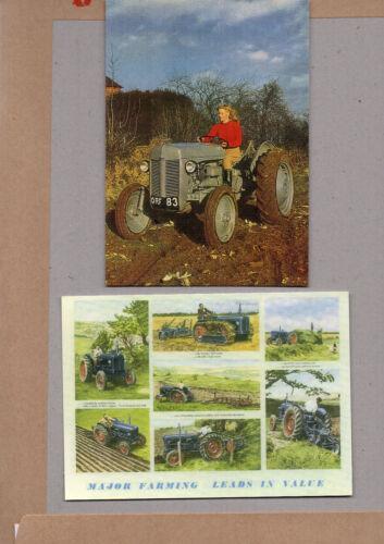 2x vintage Ad gallerie karten Traktoren Ferguson TE20 and fordson große auswahl
