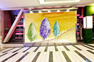 3D-Aquarell-Baum-869-Tapete-Wandgemaelde-Tapete-Tapeten-Bild-Familie-DE-Summer