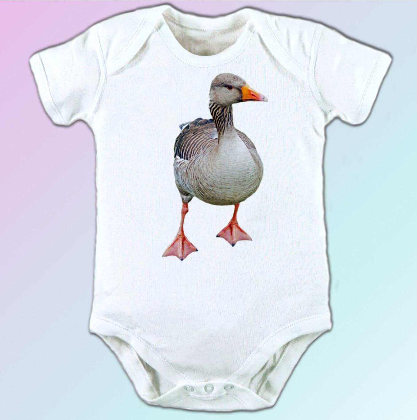 Goose Blanc T Shirt Shirt Shirt Animal Tee Top Bird Design-Homme Femme Enfants Bébé Tailles 2253f2