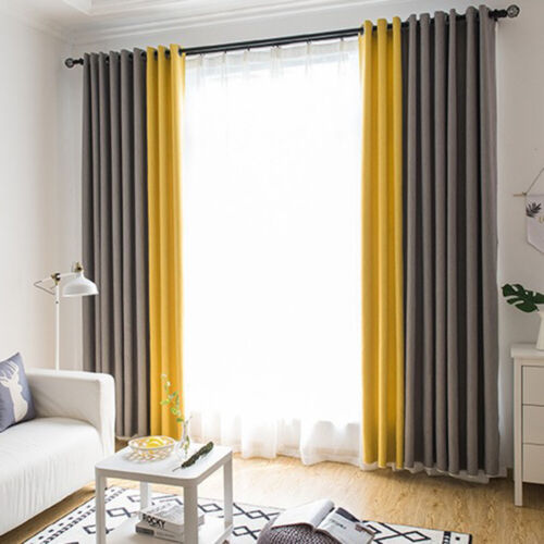 Linen Nordic Curtain Modern Blackout Window Bedroom Textile Minimalist Styles