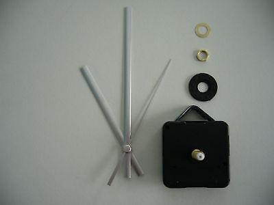 QUARTZ CLOCK MOVEMENT MEDIUM SPINDLE 130mm YELLOW HANDS