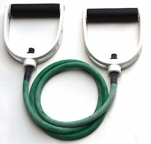 Light Resistance Tubing with Premium Handles Green Fitness Resistance Band