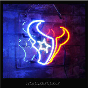 Houston Texans Sign Beer Pub Bar Store Party Wall Decor Gift Neon