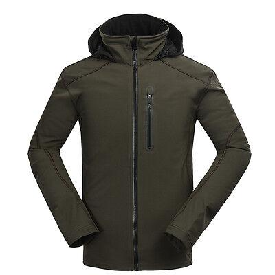 New Men Soft Shell Jacket Waterproof Windproof Hiking Outdoor Jacket