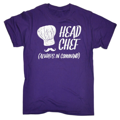 Head Chef Always In Command T-SHIRT Kitchen Cook Cooking Tee Chef Birthday