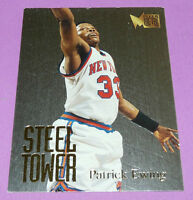 Patrick Ewing Ny Knicks Steel Tower Metal Fleer 1995-1996 Nba Basketball Card