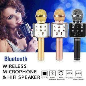 Bluetooth-Karaoke-Mikrofon-Handheld-Mikrofon-Lautsprecher-KTV-Home-Player-O8W4