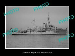 OLD-8x6-HISTORIC-AUSTRALIAN-NAVY-PHOTO-OF-THE-HMAS-KATOOMBA-SHIP-c1954