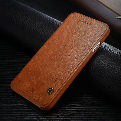 Ultra Thin Leather Shockproof Hard Back Stand Case For Apple iPhone 6 6S Plus