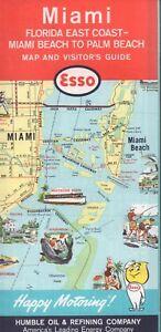 Details about 1962 Esso Road Map: Miami Florida East Coast Miami Beach to  Palm Beach NOS