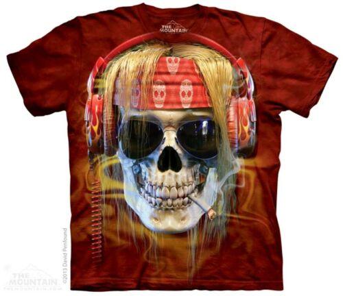 The Mountain Rocker Skull T Shirt Biker Hippie Totenkopf Smoke Joint #3218 634
