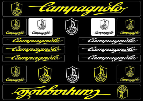 Campagnolo Bike Bicycle Frame Decals Stickers Graphic Adhesive Set Vinyl Yellow