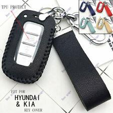 Leather Car Flip Key Chain Case Cover For Hyundai Sonata Elantra Kia Optima Soul Fits Kia Soul