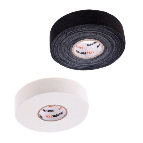 2 Roll Black Cloth Hockey Tape for Hockey Stick Water Resistant /& Adhesive