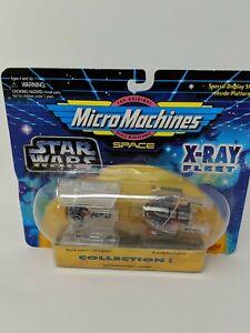 Star Wars Micro Machines X-Ray Fleet Darth Vader's TIE Fighter A-Wing Starfighte