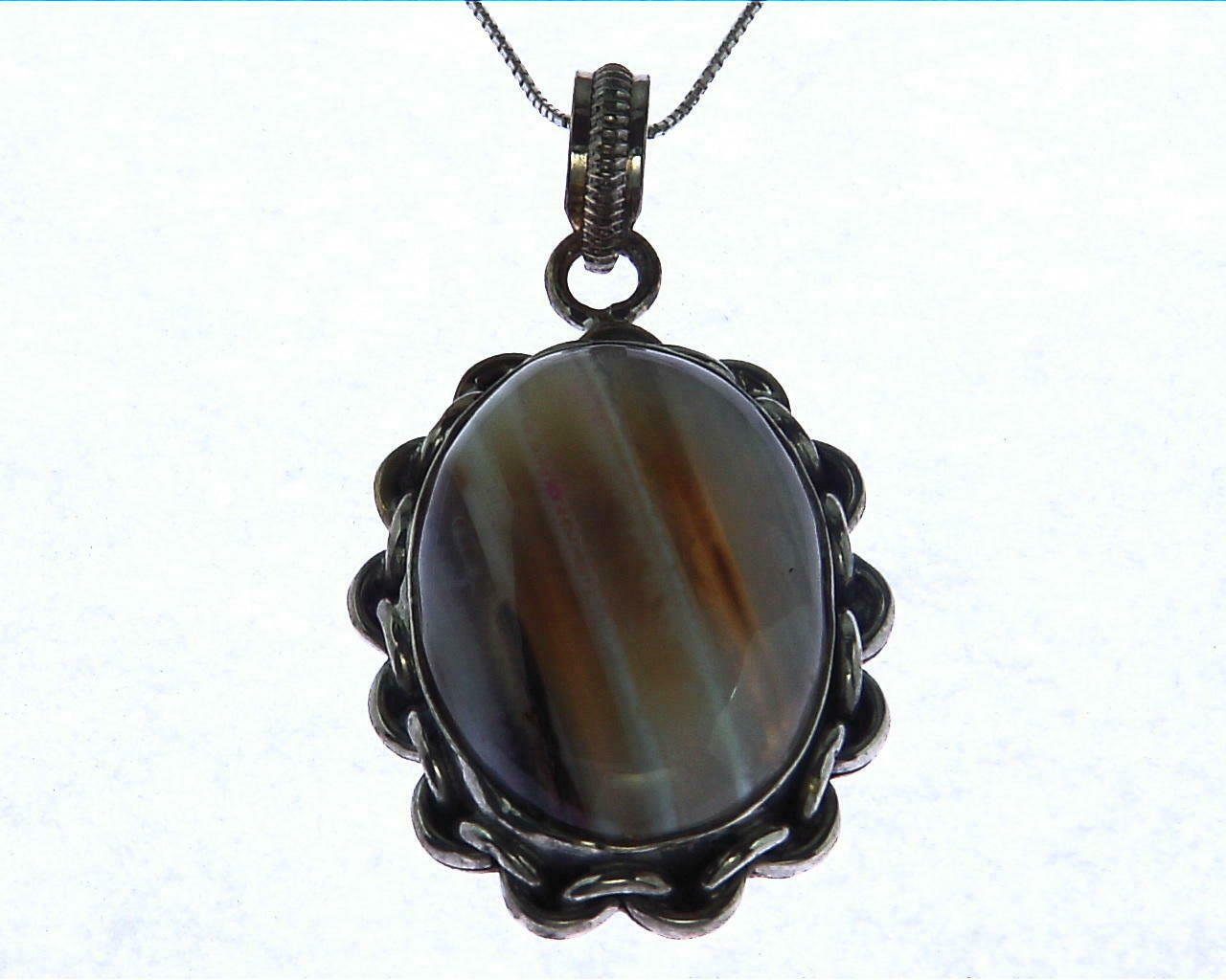 Agate Natural Genuine Gemstone Simple Design Pendant PSS,874