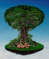 Cuban Artist Painter Jose Martinez,Original Acrylic on canvas ,Tree of Life